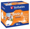 VERBATIM DVD-R (10-pack)Printable/16x/4.7GB/Jewel