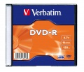 DVD-R Verbatim 4,7 GB 16x Silver slim box, 20ks/pack